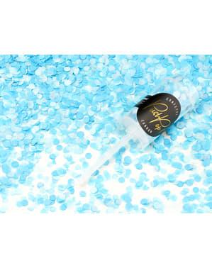 Nyomós konfetti ágyú kék színben