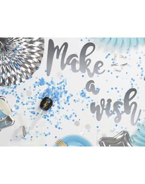 Tun de confetti push pop albastru