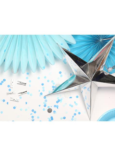 Blauw push pop confetti kanon