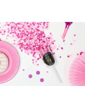 Nyomós konfetti ágyú rózsaszín
