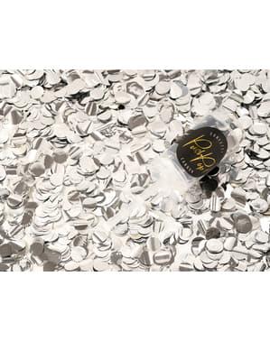Canhão push pop de confete prateado