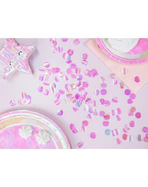 Iridescent push pop confetti cannon