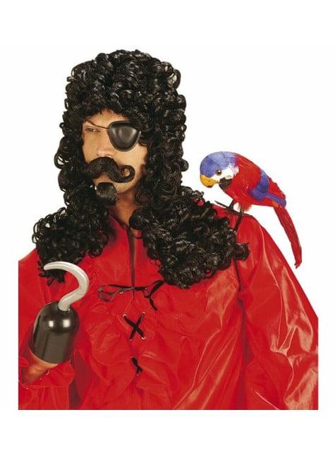 Peluca de pirata con bigote y perilla