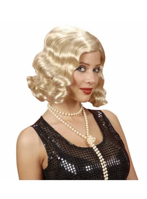 Blonde pruik jaren '20