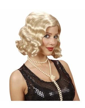 1920-luvun blondi peruukki