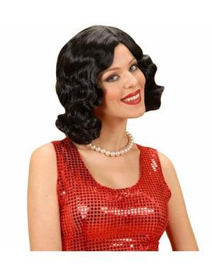 1920s black wig