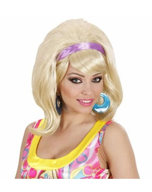 Paruka blond styl 60. let