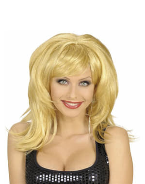 Dishevelled blond wig