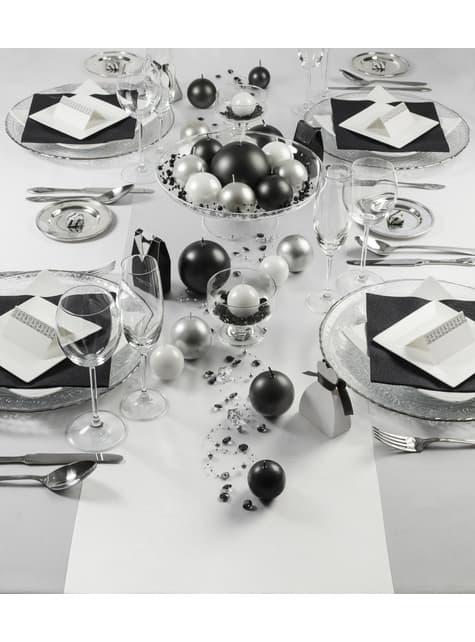 Camino de mesa blanco satinado de 36cm x 9m - barato