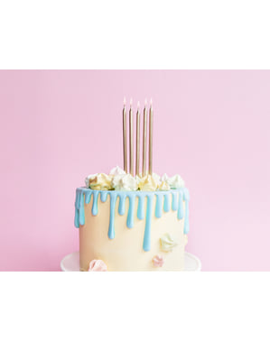 12 Gold Birthday Candles (12,5 cm)