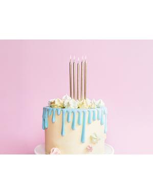 12 Guld Fødselsdagslys, 12,5 cm