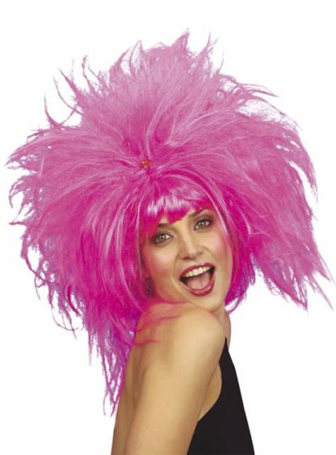Τρελά ροζ περούκα