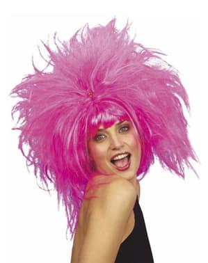 Crazy pink wig
