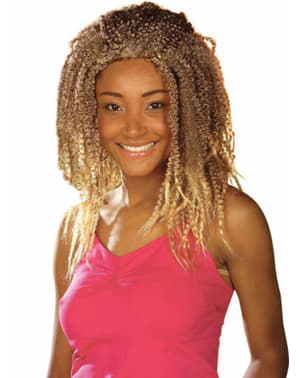 Perruque rasta blonde