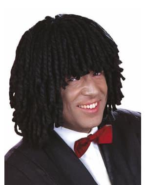 Rastafarian black wool wig
