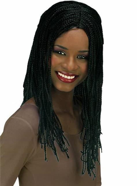 Peluca jamaicana trenzada negra