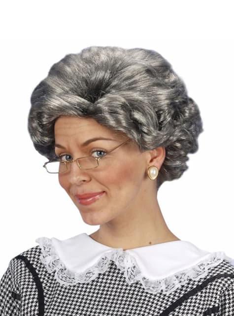 Perruque grand-mère écrivain Agatha