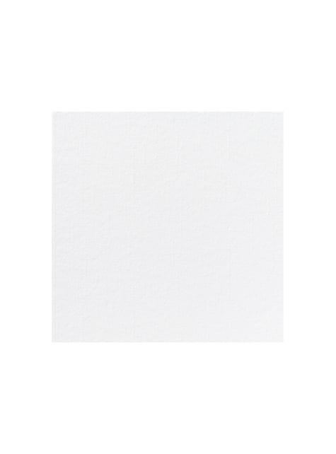 12 servilletas blancas de papel (40x40 cm)