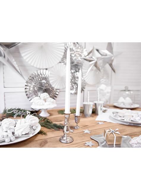 10 velas blancas (29 cm) - comprar