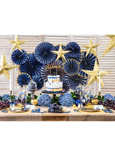 10 velas blancas (29 cm) - para decorar todo durante tu fiesta