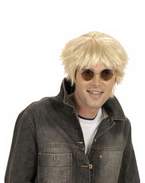 Blonde pruik jaren '60 voor mannen