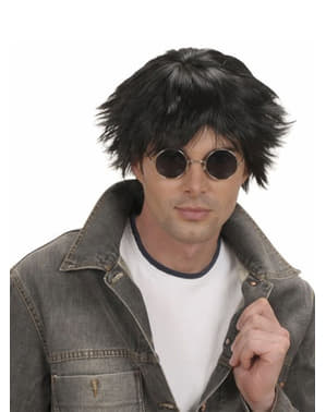 Black 60s wig for a man