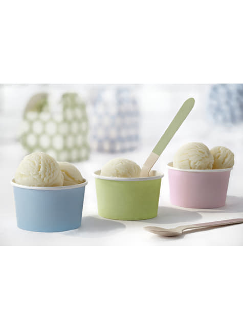 18 couverts multicolores pastel en bois - Pastelove Collection