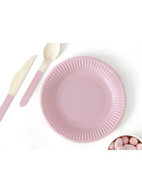 18 cubiertos multicolor pastel de madera - Pastelove Collection - para niños y adultos