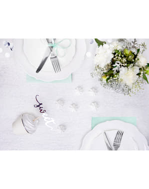 Silver Abaca Fiber Table Runner