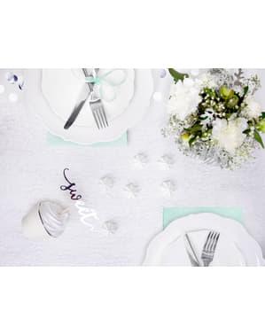 Zilveren abaca tafelloper