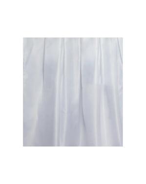 Nappe blanche en tissu brillant