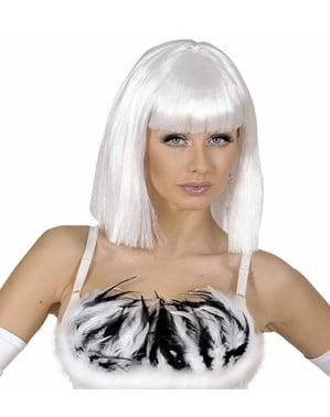 Parrucca showgirl bianca