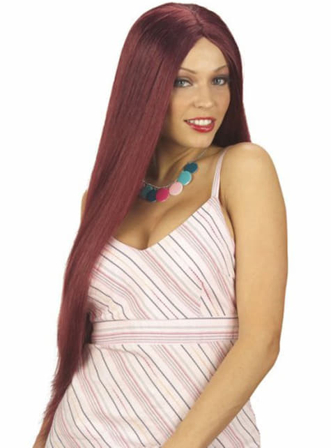 Perruque extra-longue rousse