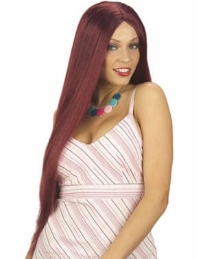 Дуже довге червоне волосся перуку
