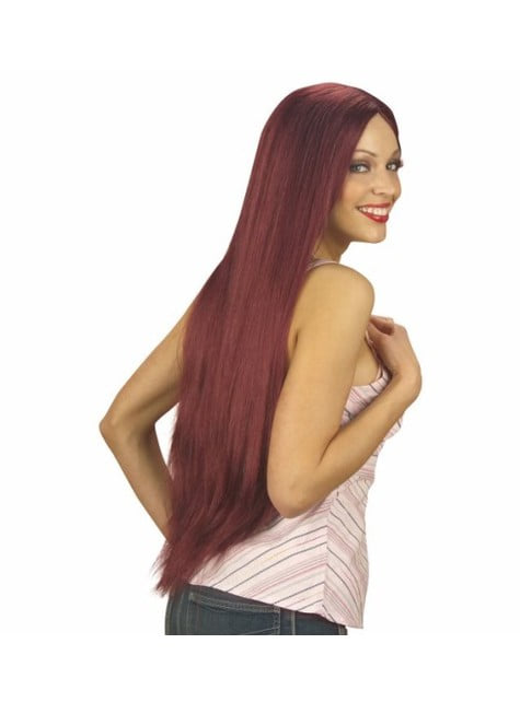 Extra long red haired wig