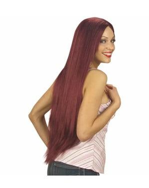 Paruka červená extra dlouhá