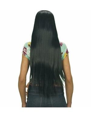 Дуже довге чорне перуку