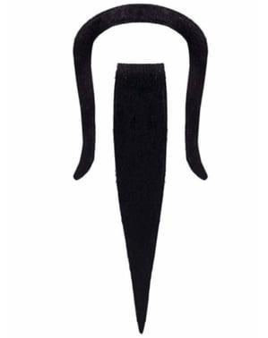 Kinesisk mandarin overskæg og fipskæg