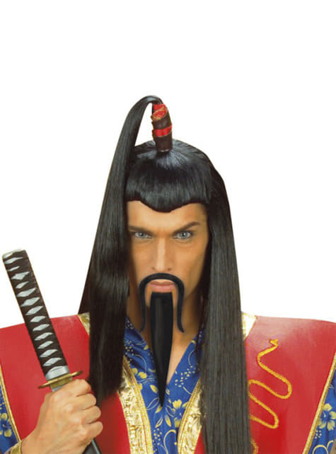 Chinese mandarin moustache and goatee
