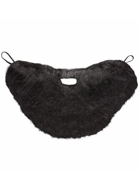 Stort svart skjegg med bart