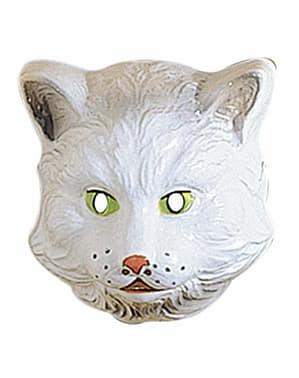 Kat masker van plastic voor kinderen