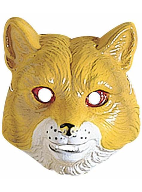 Пластиковая лиса-маска для ребенка