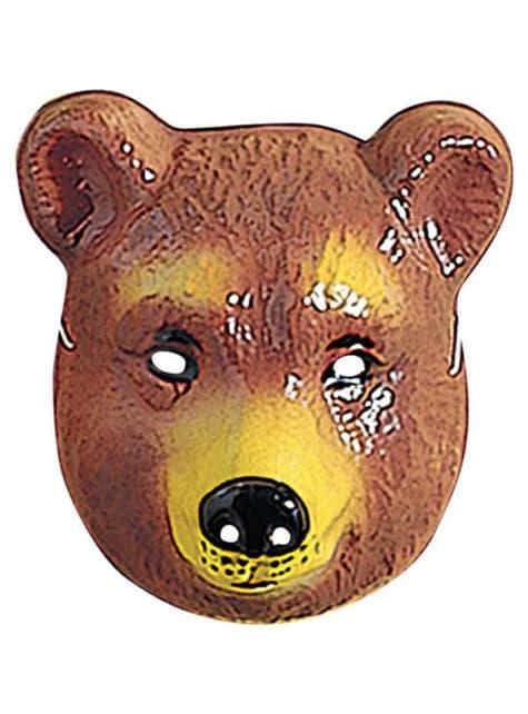 Bjørnemaske i plastik til børn