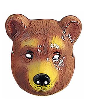Careta de urso infantil de plástico