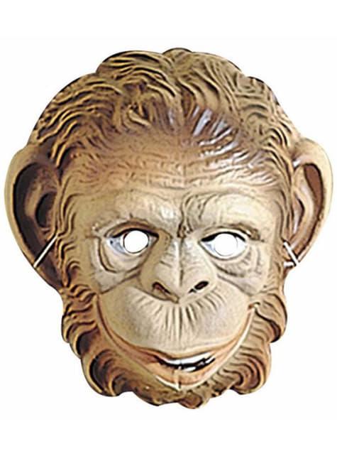 Plastová maska opíc pre dieťa