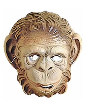 Maschera scimmia di plastica per bambini