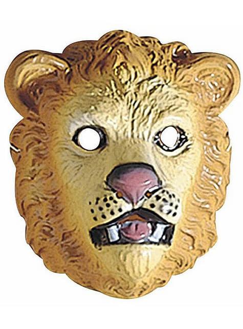 Careta de león infantil de plástico