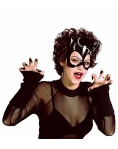 Plastic catwoman mask