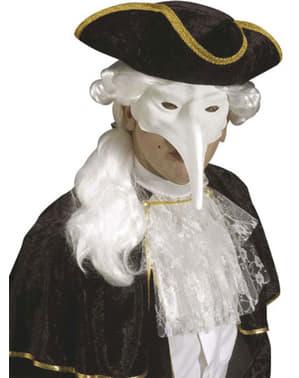 Venezianische Maske weiß für Herren