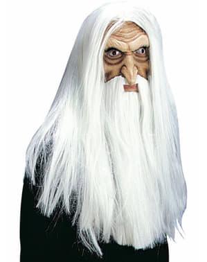 Maska čaroděj bílá